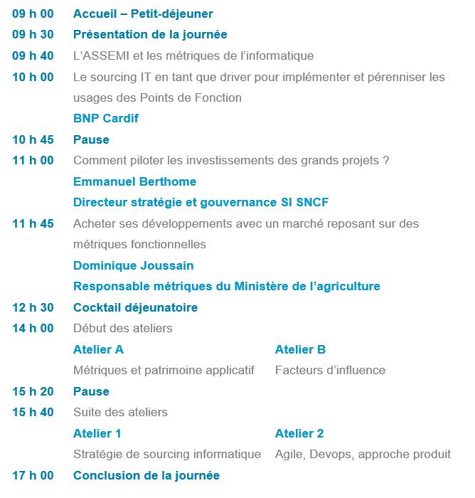 Programme conférence ASSEMI